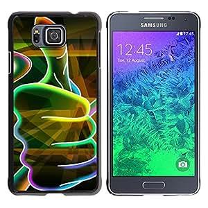 YOYOYO Smartphone Protección Defender Duro Negro Funda Imagen Diseño Carcasa Tapa Case Skin Cover Para Samsung GALAXY ALPHA G850 - un neón pulgar hacia arriba