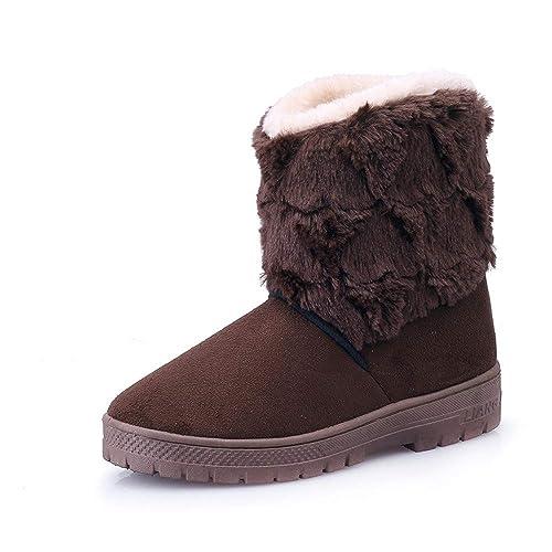 Btruely Herren Otoño Invierno Moda Botines Caliente Mujer Botas Suave Cuña Zapatos con Suela Antideslizante Zapatos Calzado Deportivo para Mujer Btruely ...