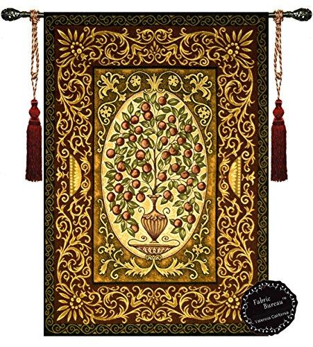 "Fabric Bureau Abundant Tree of Life (Apple) ornamental Tapestry Wall Hanging 54""x37"""