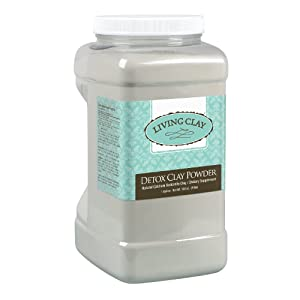 Living Clay® Detox Clay Powder | All-Natural Bentonite Calcium Clay for Internal & External Deep Cleansing | Perfect for Mask, Bath or Wrap | 1 Gallon
