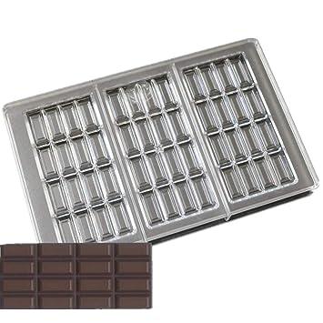 Última 3 cavidades más amplio 27.517.52.4 cm único Rectángulo cubo forma policarbonato molde del chocolate molde para DIY accesorios para hornear: ...