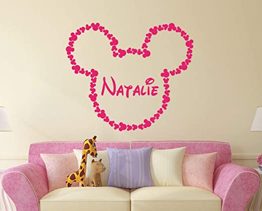 Amazon Com Minnie Mouse Name Wall Decal Vinyl Decals Sticker