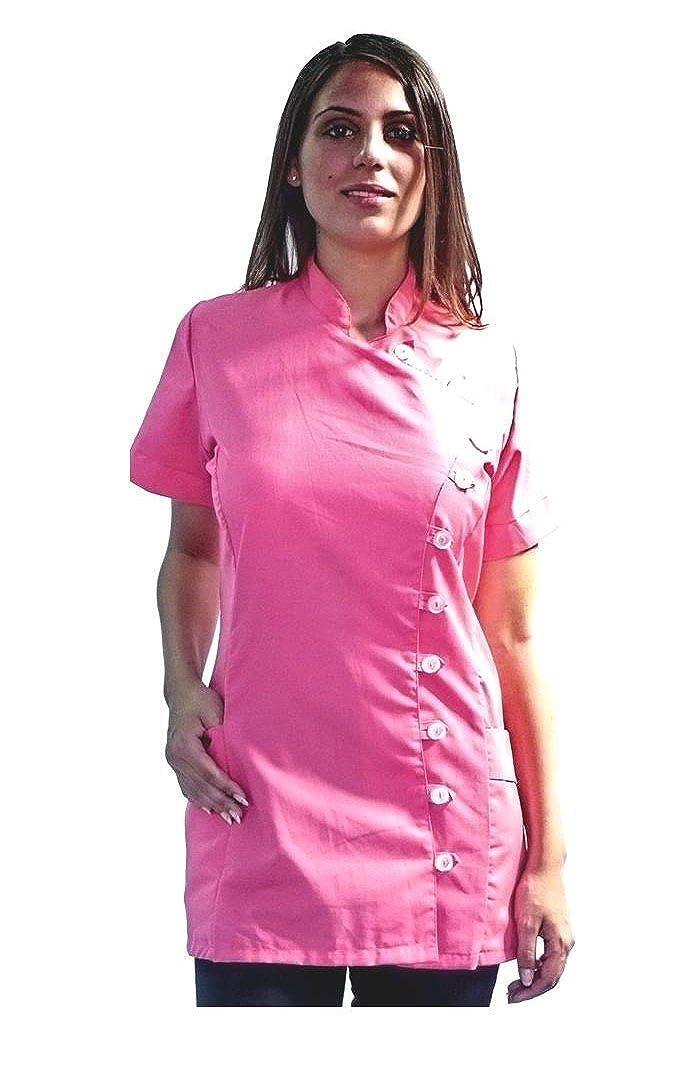 tessile astorino giacca, casacca donna, manica corta, per parrucchiera, estetista, centri benessere e sanitari, vari colori, Made in Italy