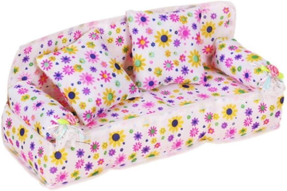 Madera Sala Casa de Mu/ñecas Muebles en Miniatura Sof/á Gabinete de TV Set de Juguete Familia de Mu/ñecas Juegos de Imaginaci/ón para Ni/ños Chicas por SamGreatWorld