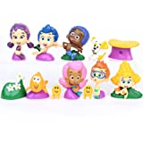 Underwater Scenery B Nickelodeon Bubble Guppies Toy Figure Set of 13 with Bubble Puppy Inc Goby Deema B Oona Baby Guppies Etc and Special ToyRing Gil