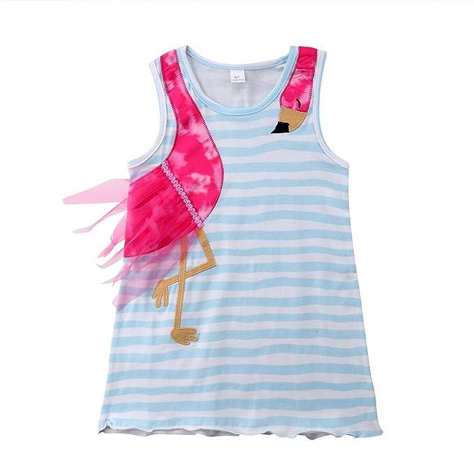Amazon.com: Niños de bebé niñas Flamingo Patchwork Vestido ...