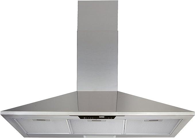 Ignis AKS 906 IX Campana extractora pared 90 cm acero inoxidable: Amazon.es: Grandes electrodomésticos