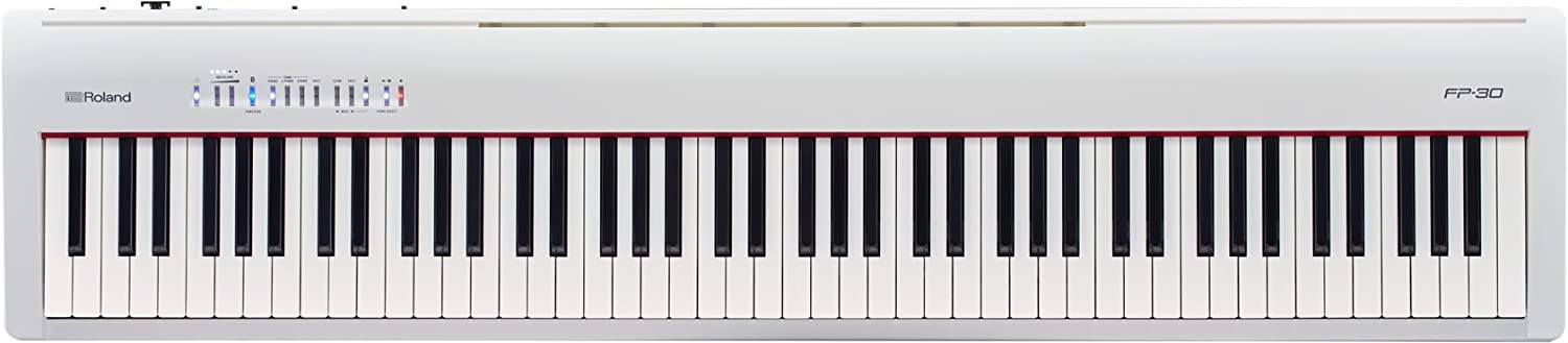 Roland 88-Note Portable Digital Piano, White (FP-30-WH)