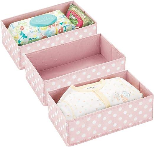 mDesign Juego de 3 Cajas de almacenaje para habitación Infantil o ...