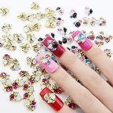 Perfect Summer 30pcs Sets 3D Nail Art Cell Phones Colorful Crystal Rhinestones Bows Diamond Glitters DIY Cute Decorations