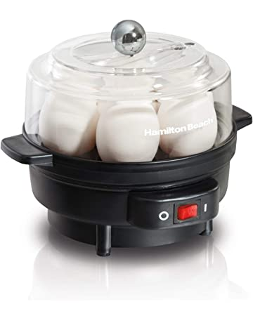 Hamilton Beach 25500 7 Egg Cooker with Built-In Timer and Poaching Tray Black