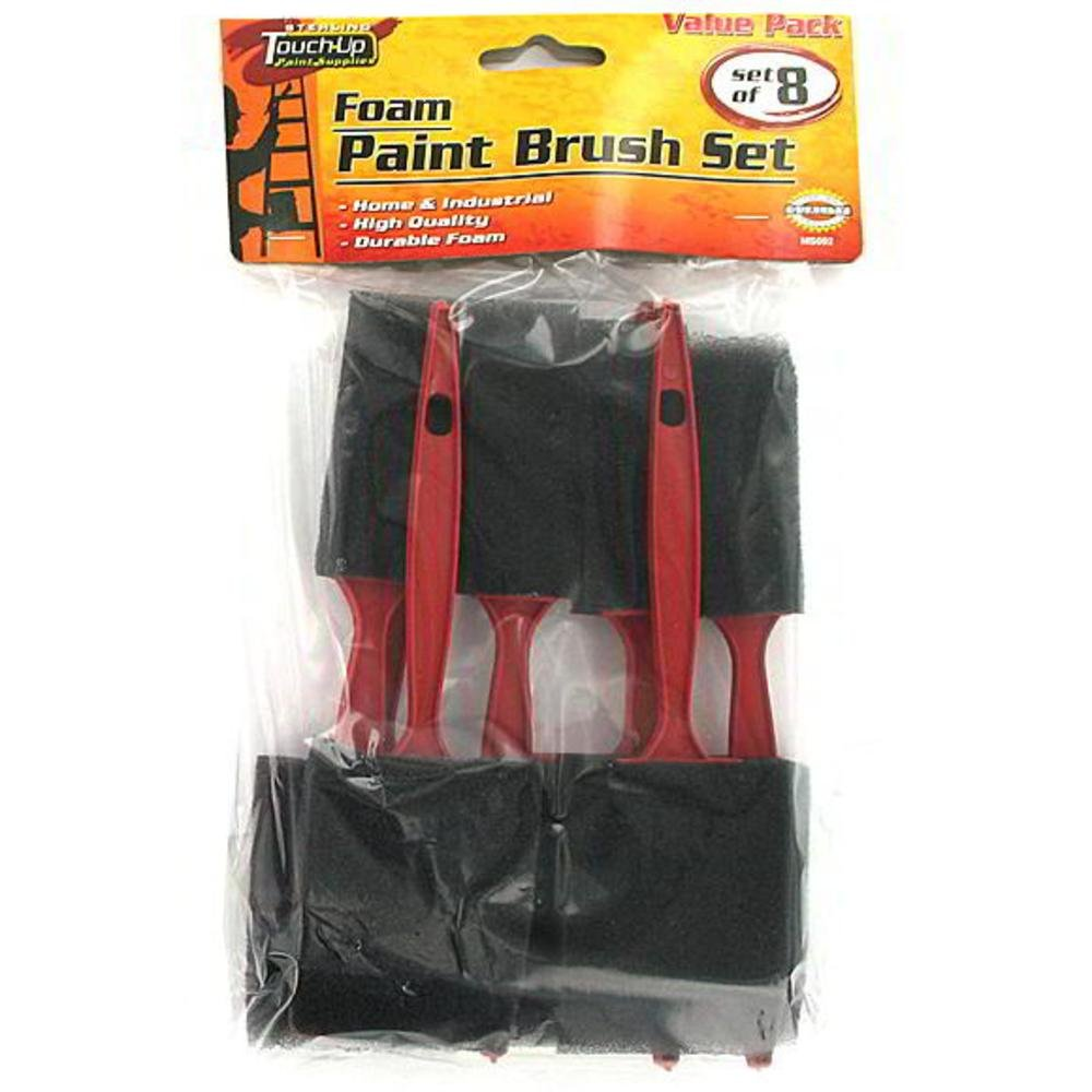 Foam paint brush set - 24 Unit(s) by FindingKing