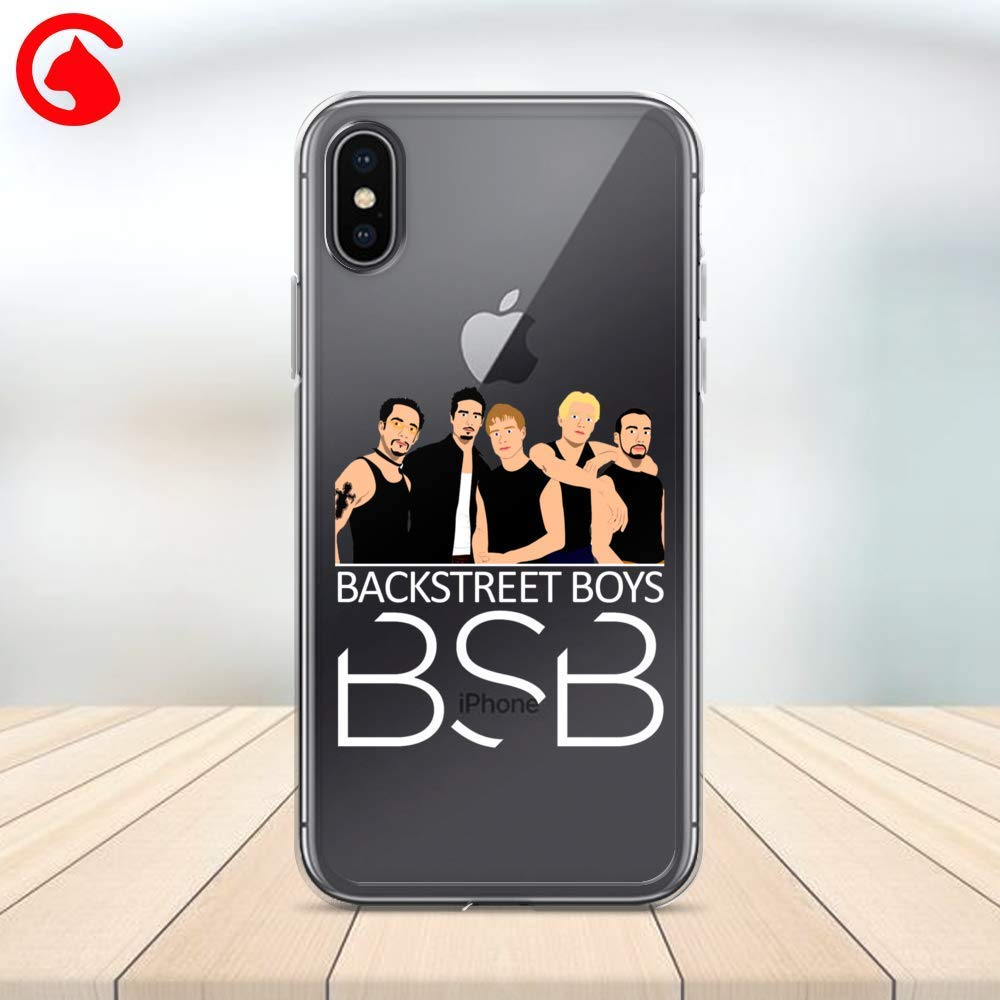 CatixCases Backstreet Boys Phone Case Cell Plastic Сlear Case for Apple iPhone X/XS/XR/XS Max / 7/8 / plus iPhone 6 / 6S plus Protector Protective Cover Art Design