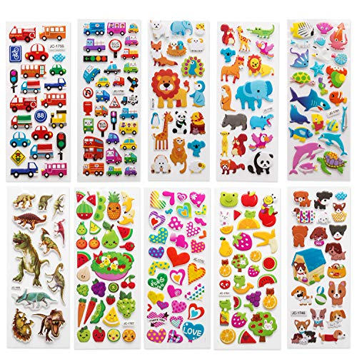 SAVITA 3D Stickers for Kids & Toddlers 500+ Puffy Variety 500+pcs