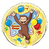 """34"""" Giant Round Foil Curious George Helium Balloon"""