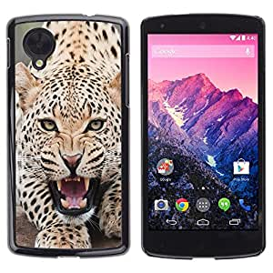 - FURRY ANIMAL LEOPARD SPOTS ROAR ANGRY - - Monedero pared Design Premium cuero del tir???¡¯???€????€?????n magn???¡¯&A
