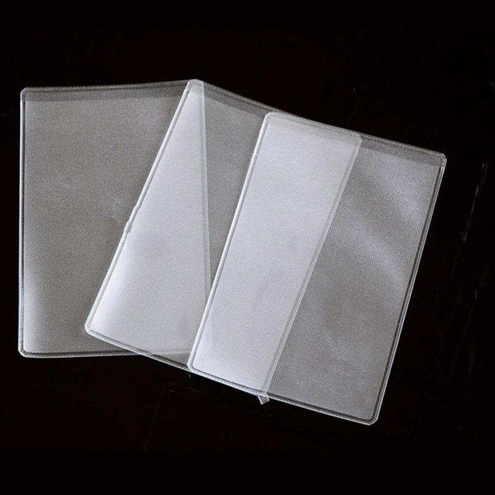 cosanter trasparente verticale Carta Haltern supporto della carta 100pezzi targhetta nome del titolare della carta in plastica per proteggere