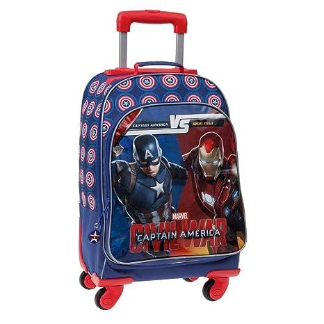 Marvel Versus Mochila Escolar, 31.58 litros, Color Azul