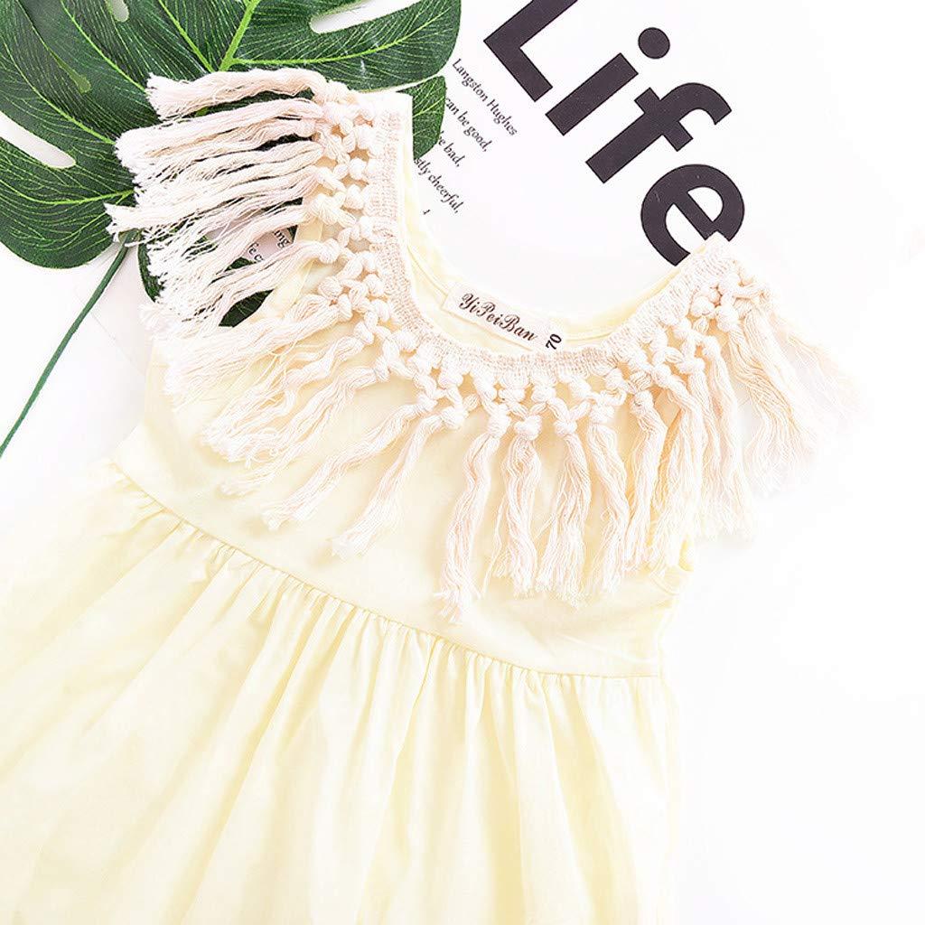 Cute Newborn Toddler Kids Baby Sleeveless Tassel Collar Dress Sundress Clothing Willsa Girls Dresses