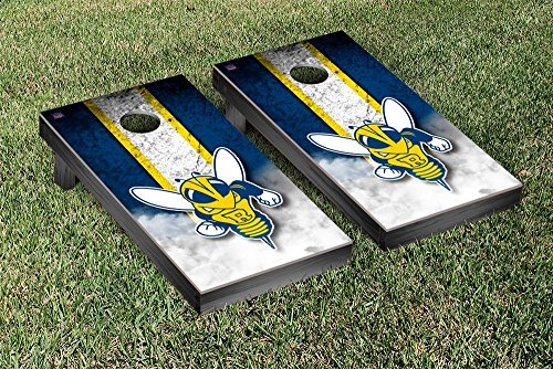 University of Rochester Yellowjackets Cornhole Game Set Vintage Wooden by Victory Tailgate