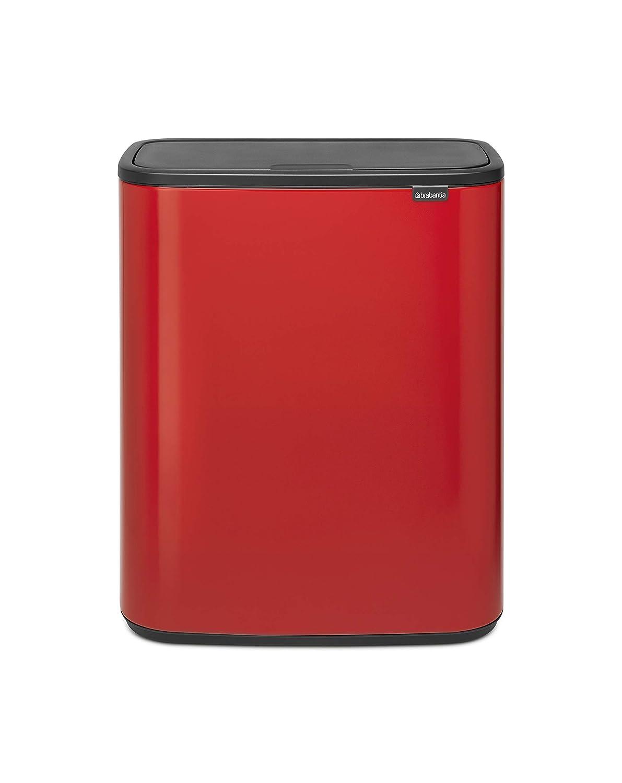 Brabantia Bo Touch Bin Cubo de Basura, Passion Red, 60 l: Amazon ...