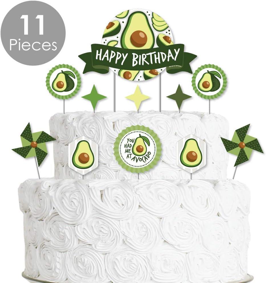 Peachy Amazon Com Big Dot Of Happiness Hello Avocado Fiesta Birthday Funny Birthday Cards Online Hendilapandamsfinfo
