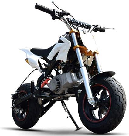 90GJ Motocross Gasolina 2 Tiempos 49cc niños Adultos pequeña Bicicleta de montaña Combustible pequeña Motocicleta Blanco: Amazon.es: Hogar