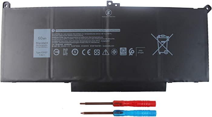 F3YGT Laptop Battery Compatible with Dell Latitude 12 7000 7280 7290 Latitude 13 7000 7380 7390 Latitude 14 7000 7480 7490 E7480 E7280 Series DM3WC 0DM3WC 2X39G [60Wh 7.6V ]