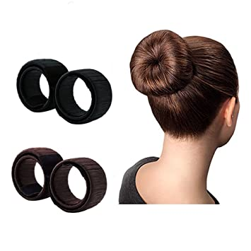 Amazon.com: YOUFA Bun Maker Hairstyle Clip Beauty Crown for Woman ...