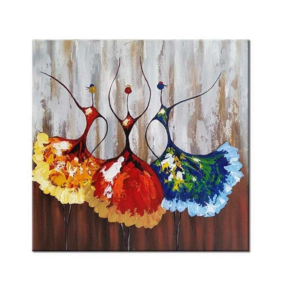 OME&MEI Pinturas Al Óleo Artísticos Bailarines De Lienzo Ballet Resumen Personas Lienzo De Arte De La Pared Sala De Estar Dormitorio Decoraciones para El Hogar (Sin Marco) -30X30Cm 8b1546
