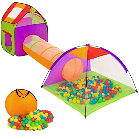 Vetrineinrete Tenda Per Bambini Con 200 Palline Colorate Pieghevole