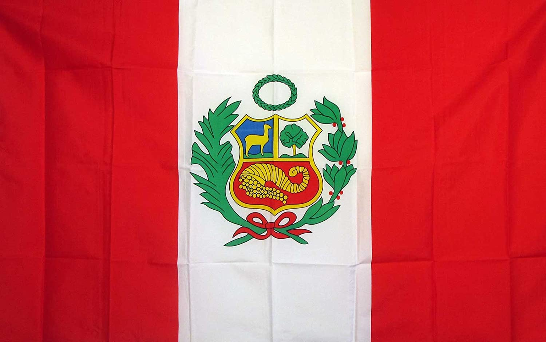 amazon com peru national flag 3 x 5 new 3x5 large peruvian banner