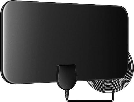 Antena de TV Interior, Antena Digital HDTV de 50 Millas Freeview 4K 1080P HD FM VHF UHF Antena de Ventana para Canales Locales, sin Amplificador: Amazon.es: Electrónica