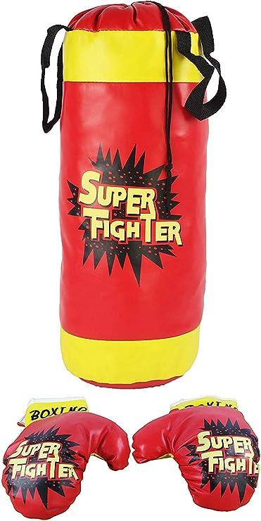 Juego de juguetes de boxeo para ni/ños con guantes Mini bolsas de arena de boxeo que cuelgan saco de boxeo Juguetes de boxeo Figuras