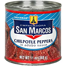 Empacadora San Marcos Chipotle Peppers in Adobo Sauce, 11-Ounce Cans (Pack of 12)