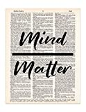 Mind Over Matter - Dictionary Page Print - Handmade - Typography - 8.5x11 - UNFRAMED