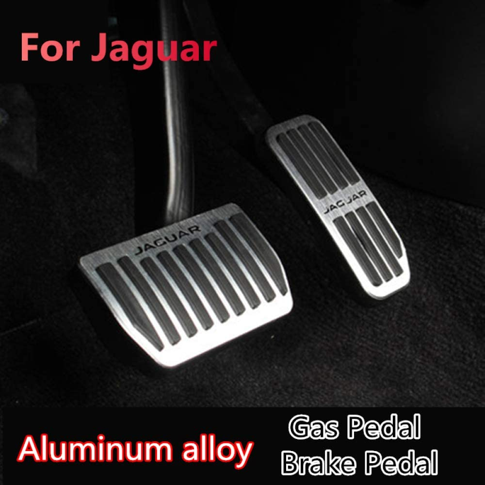 Jxsmqc Aluminiumlegierung Autozubehör Gaspedal Bremspedal Gasbremse Fußstütze Pedal Für Jaguar Xe Xf F Pace F Pace 2015 2016 2017 2018 Sport Freizeit