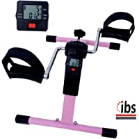 IBS Pedal Exercise Cycle/Bike Exerciser Cum Cardio Cycle with Digital Display Fast Calories Burn Weight Loss Kit for Men & Women (Black/Pink)