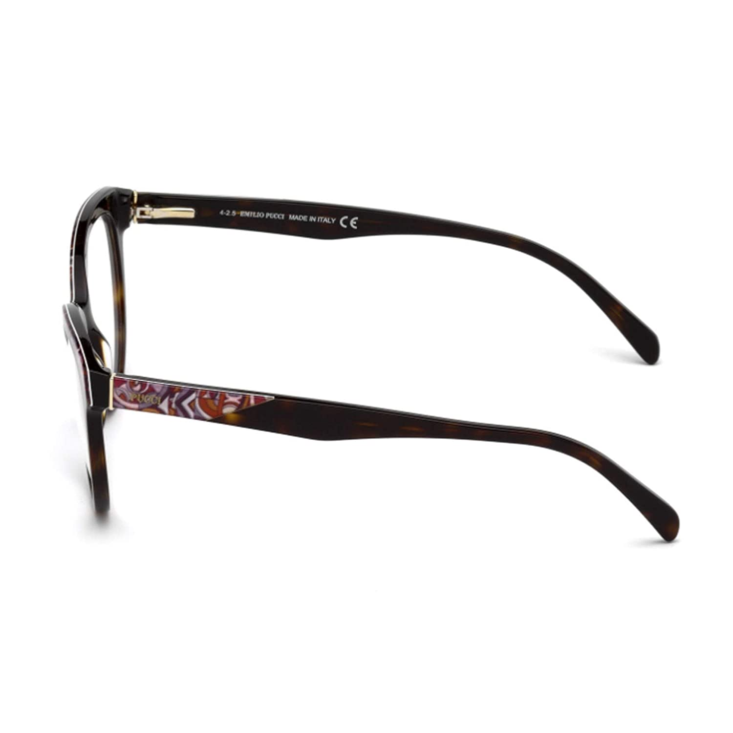 Cat Eye 052 B women DARK HAVANA PINK FANTASY EP5035 acetate Emilio Pucci 53//18//140