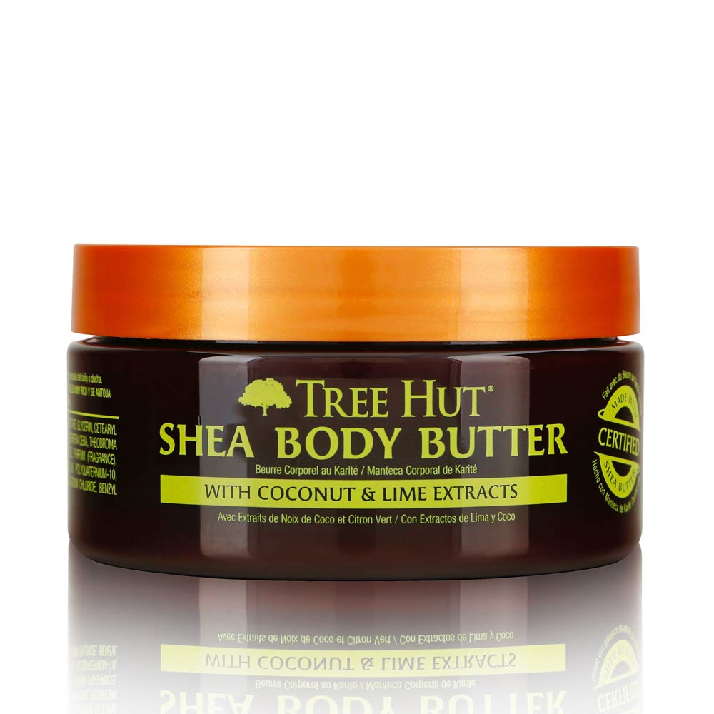 Tree Hut 24 Hour Intense Hydrating Shea Body Butter Coconut Lime, 7oz, Hydrating Moisturizer with Pure Shea Butter for Nourishing Essential Body Care