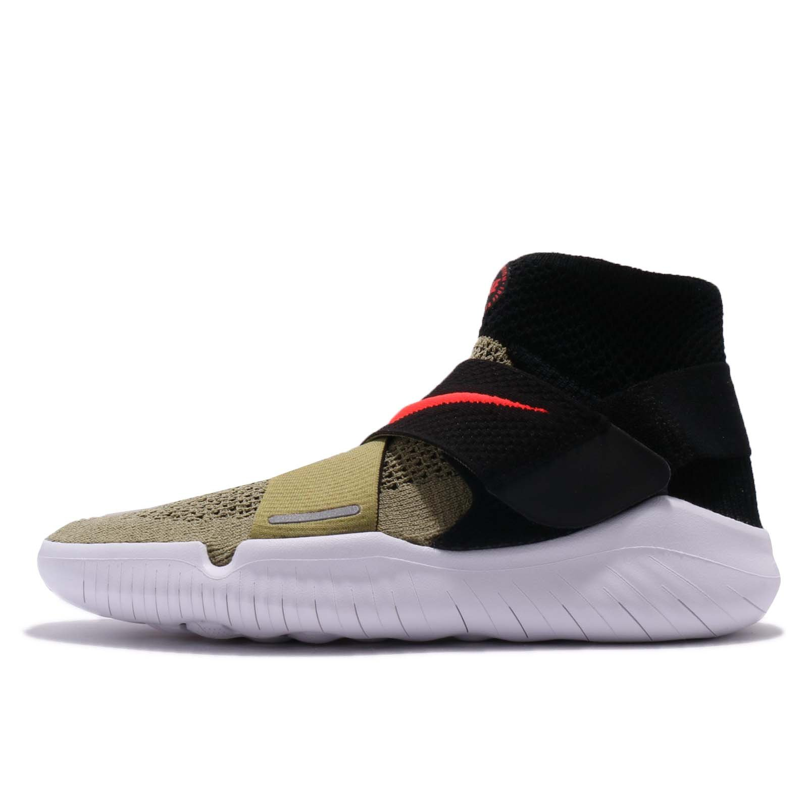 Nike Men's Free RN Motion FK 2018 (Neutral Olive/Bright Crimson, Size 10 M US)