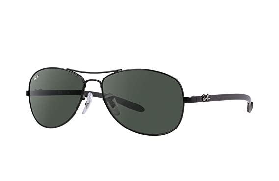 7cdc12d30 Ray-Ban RB 8301-002 Black CARBON FIBRE Sunglasses With Crystal Green Lenses-