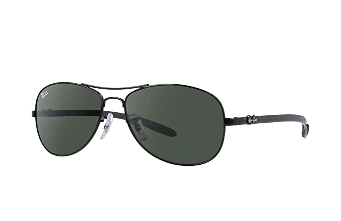 93fab925b2b060 Ray-Ban RB 8301-002 Black CARBON FIBRE Sunglasses With Crystal Green Lenses-