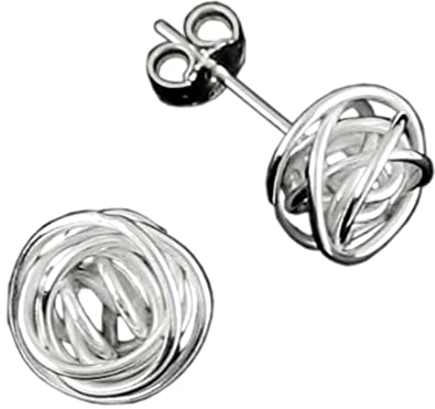 b1c835722 Handmade 925 Sterling Silver Wire Wrapped Stud Silver Earrings with Free  Gift Packaging by Otis Jaxon: Otis Jaxon: Amazon.co.uk: Jewellery