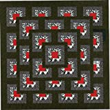 quilting pre cut kits - Easy Quilt Kit Boxed Maze!! Red, Black, White/EXPEDITED SHIPPING