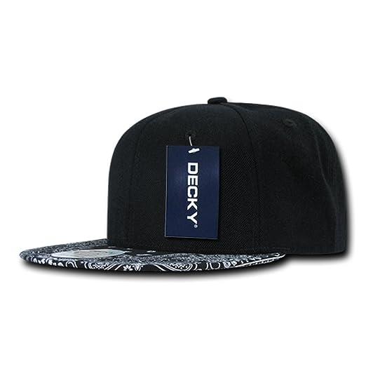 06c9f080 Amazon.com: DECKY Bandanna Snapbacks Bandana Cap (One Size, Black ...