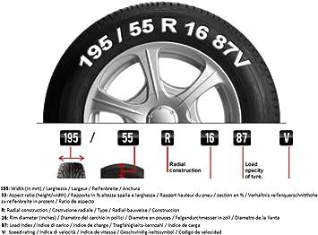 Catene da neve a rombo da 9mm per Suzuki Swift EZ-MZ 2004 pneumatico 165//70R14