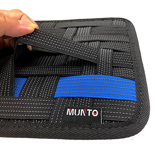 Munto Electronics Travel Organizer Bag , Elastic Cable Organizer Board for Electronics Accessories , Large