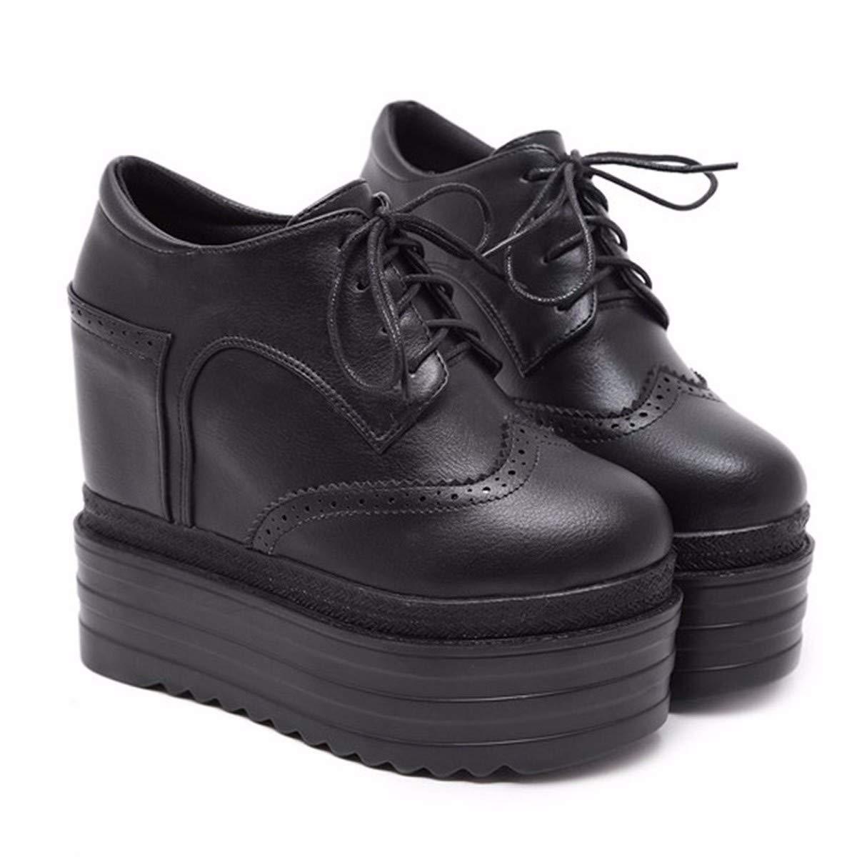 HBDLH Damenschuhe Hang - Stiefel Heel 13Cm Wasserdicht In Erhöhten Martin Stiefeln Dicken Hintern Spitzen Hochhackigen Mädchen Muffin - Stiefel