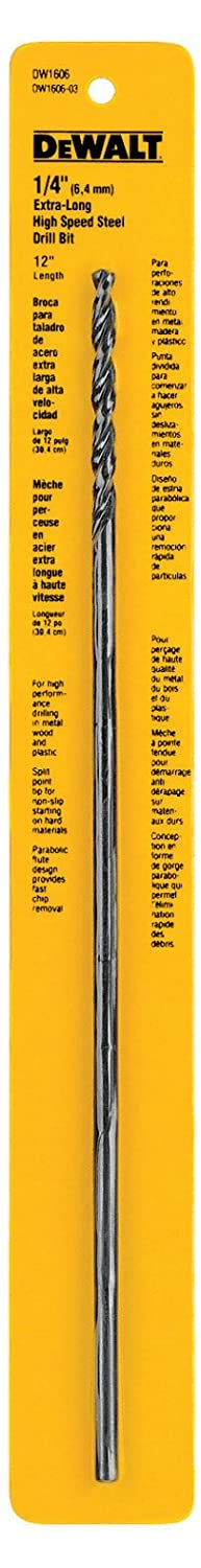 Dewalt Accessories 1/4x12in Hss Xlong Drill Bit [DIY & Tools] DW1606